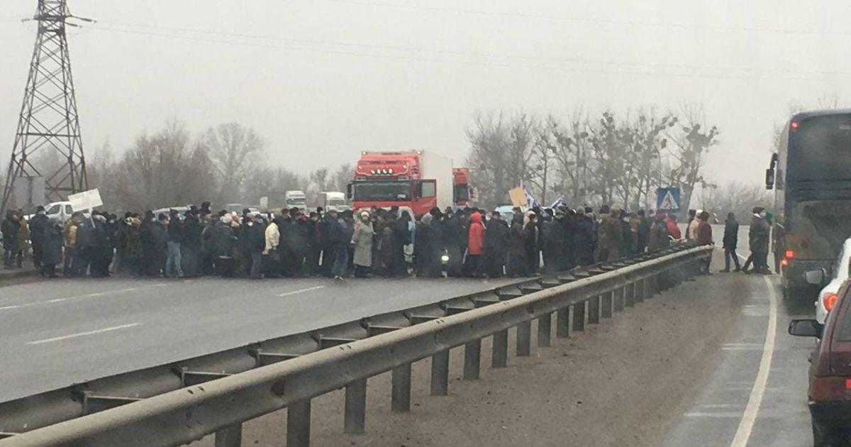 У Полтавській області протестувальники перекрили трасу міжнародного значення