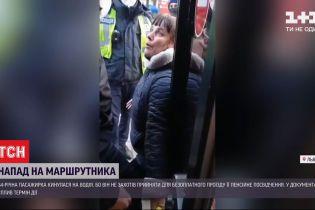 Во Львове 44-летняя пассажирка избила водителя маршрутки