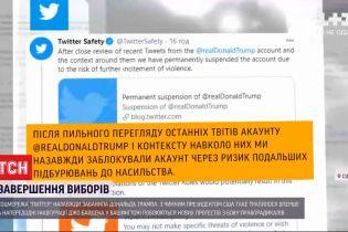 """Твиттер """"забанил"""" Трампа: соцсеть заблокировала официальный аккаунт президента США"""