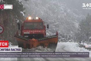 В Испании из-за снегопадов объявили высший уровень опасности - погибли три человека
