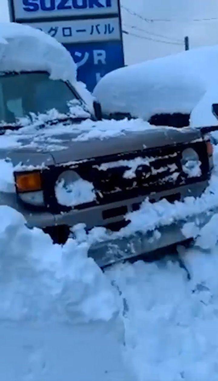 Сніговий хаос у Японії