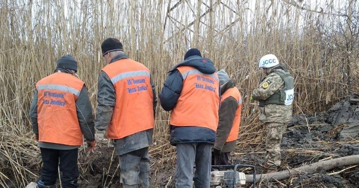 """На Донбасі відремонтували водогін """"Горлівка-Торецьк"""" попри обстріли"""