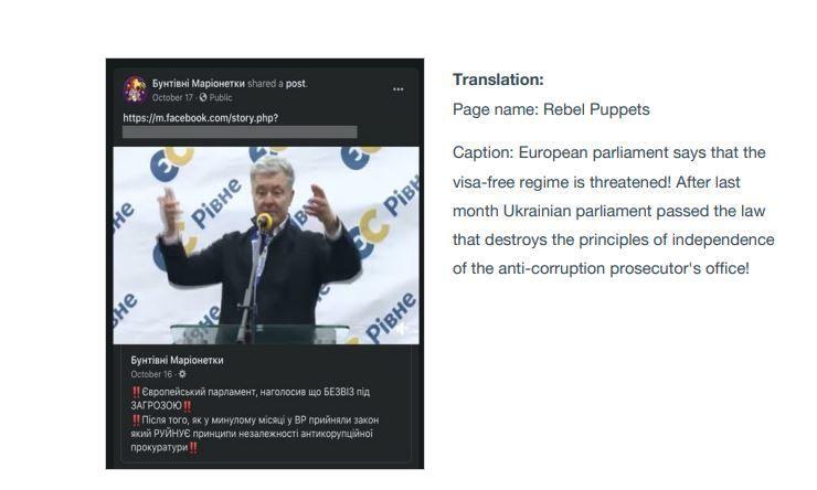 """Facebook в Україні видаливдесятки профілів, пов'язаних із партією """"Європейська солідарність"""""""