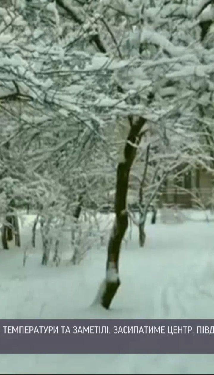 Настоящая зимняя погода продержится в Украине примерно неделю