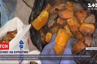 В Житомирской области задержали двух мужчин, которые незаконно продавали янтарь в Восточную Азию