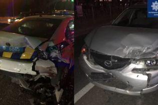 У Києві п'яний водій влаштував ДТП із чотирьох авто, серед яких і патрульна машина