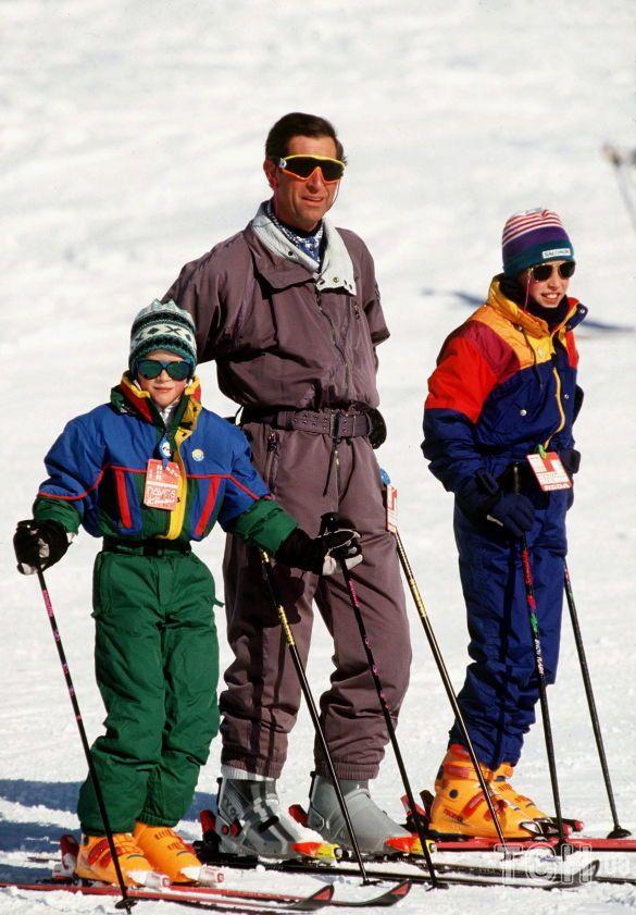 Принц Чарльз с сыновьями Уильямом и Гарри_1