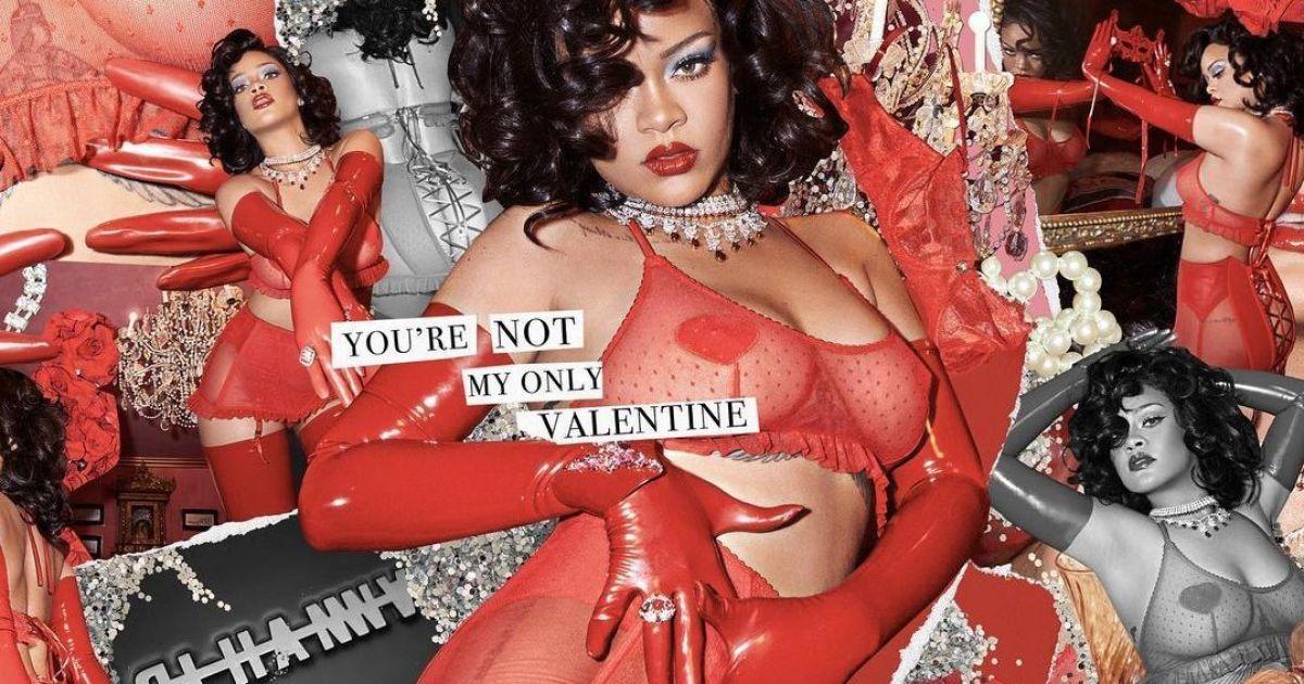 У червоній білизні: Ріанна знялася в провокаційній фотосесії до Дня святого Валентина