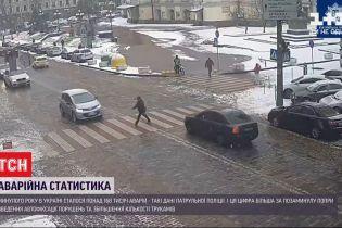 В Киеве ночью пьяный водитель разбил 4 машины, а днем в центре города другая легковушка сбила пешехода