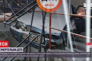На околиці Києва п'яний водій на швидкості злетів з дороги на тротуар і на смерть збив дівчину