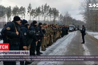 Бурштинові рейди: копи та спецпризначенці виїхали на масштабне відпрацювання Рівненської області