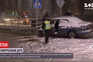 В передмісті Києва водій на швидкості вилетів на тротуар і збив жінку