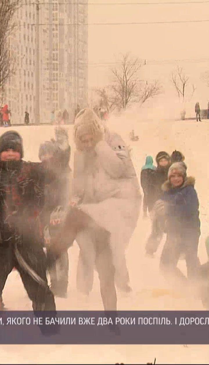 ТСН присоединилась к зимним развлечениям в центре Киева