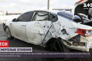 В Харькове из-за столкновения двух автомобилей погибла 50-летняя женщина