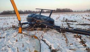 В Киевской области во время посадки упал вертолет (фото)