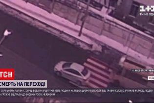 У Києві маршрутка на смерть збила пішохода на зебрі
