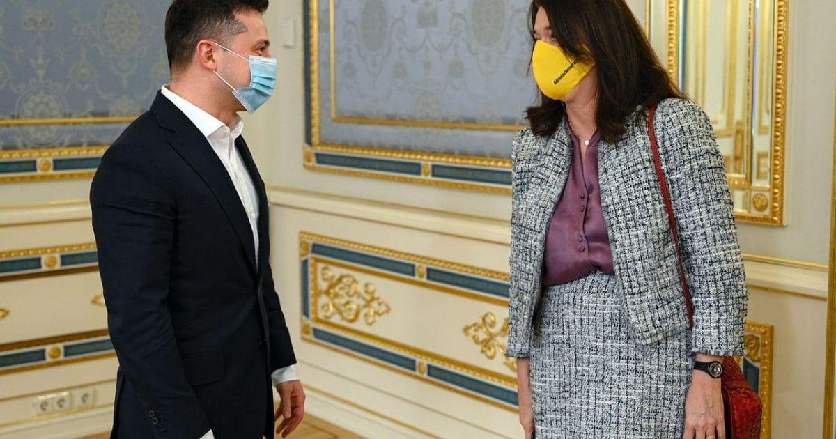 Владимир Зеленский на встрече с Анн Линде @ Сайт президента Украины