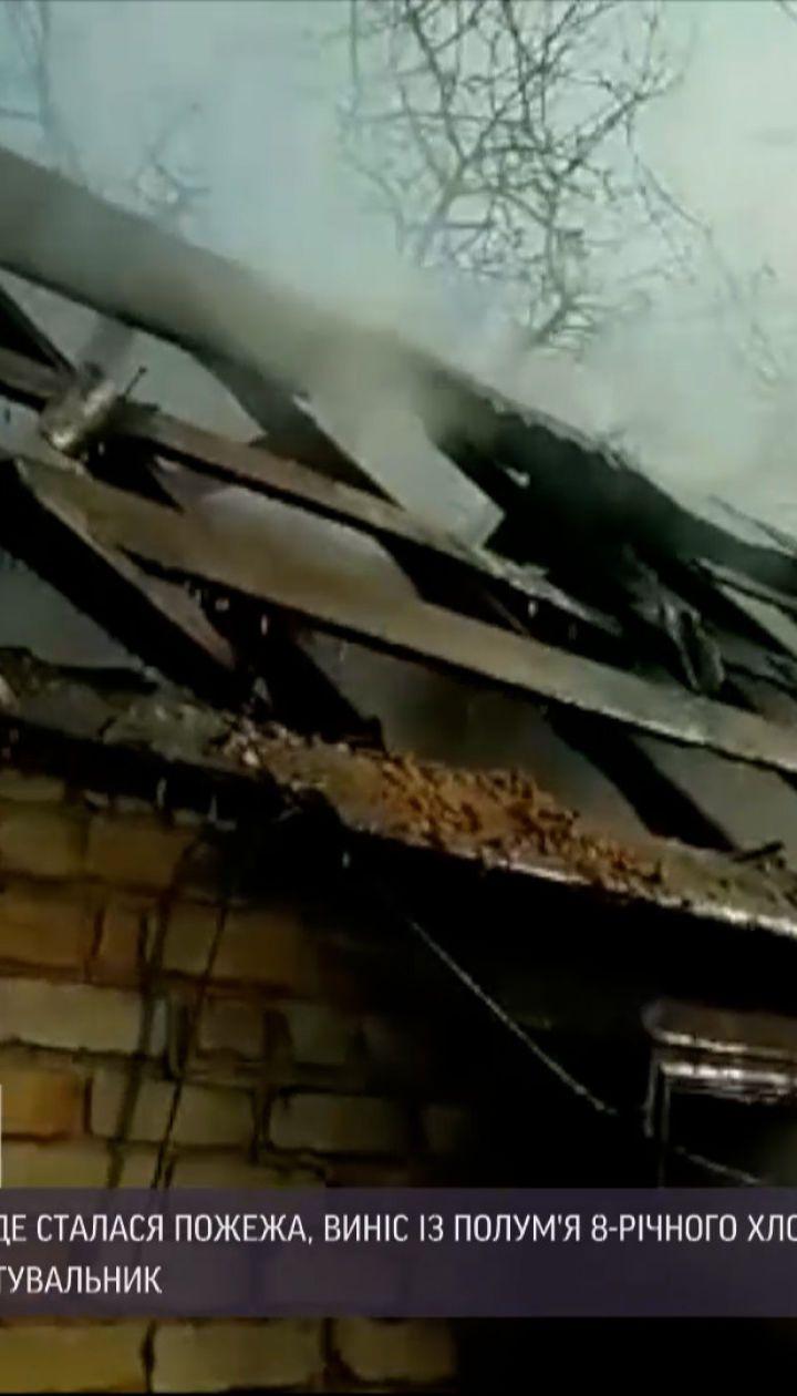 В Запорожье пациент больницы спас мальчика во время пожара