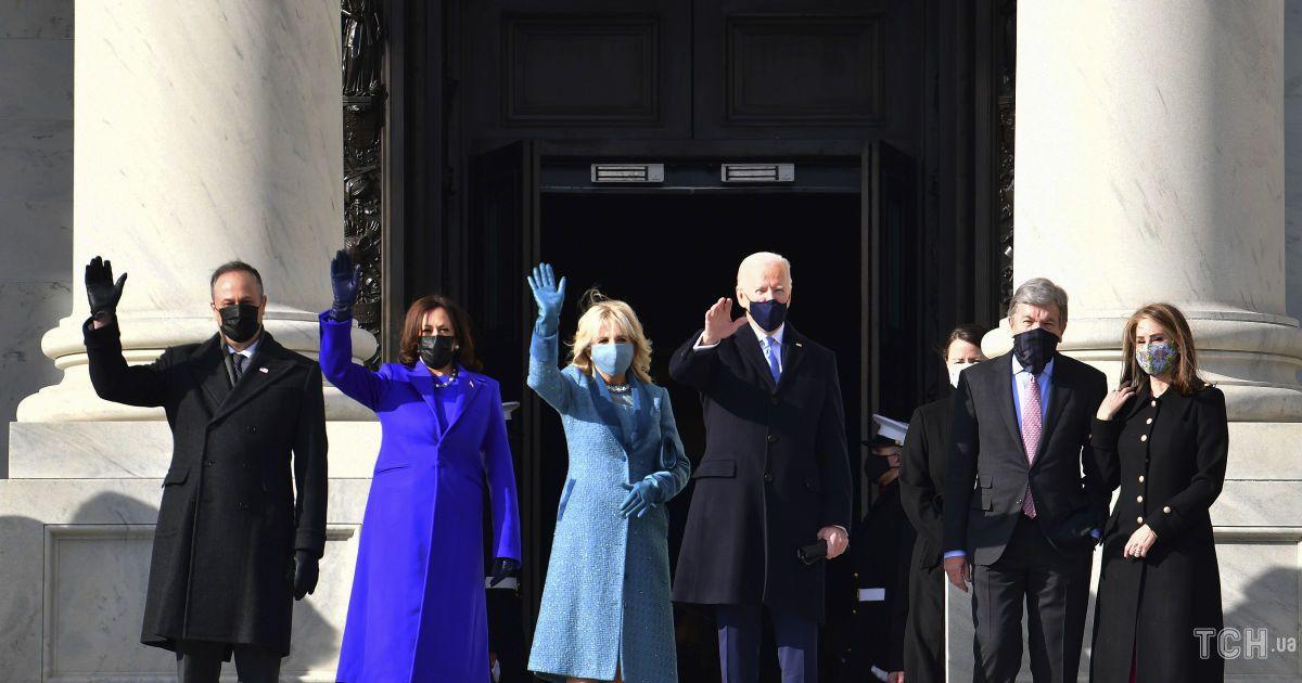 Джо и Джилл Байден на инаугурации