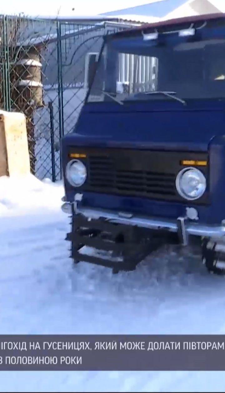 Житель Тернопольской области собственноручно смастерил снегоход