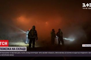 Несколько тысяч тонн кукурузы сгорело на складе в Ровенской области