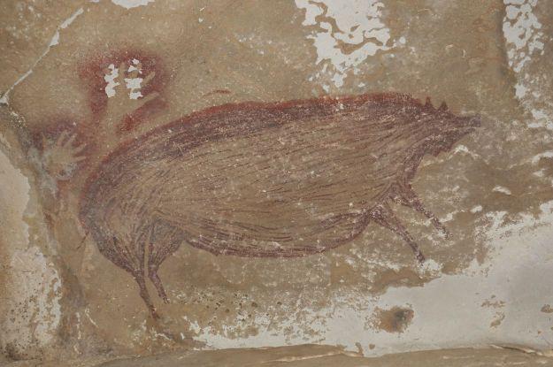В Индонезии нашли древнейший наскальный рисунок животного