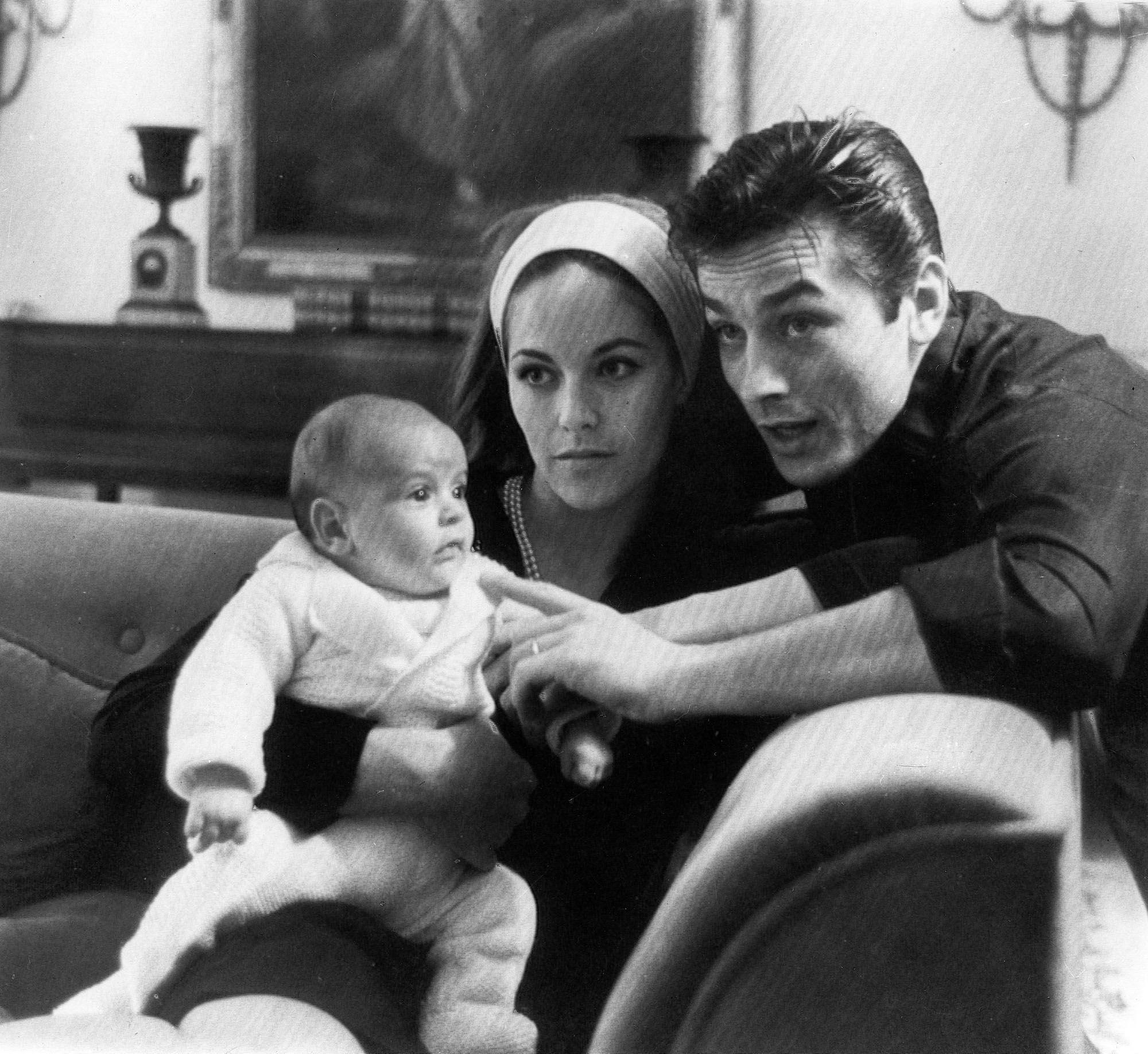 Ален та Наталі Делон з сином
