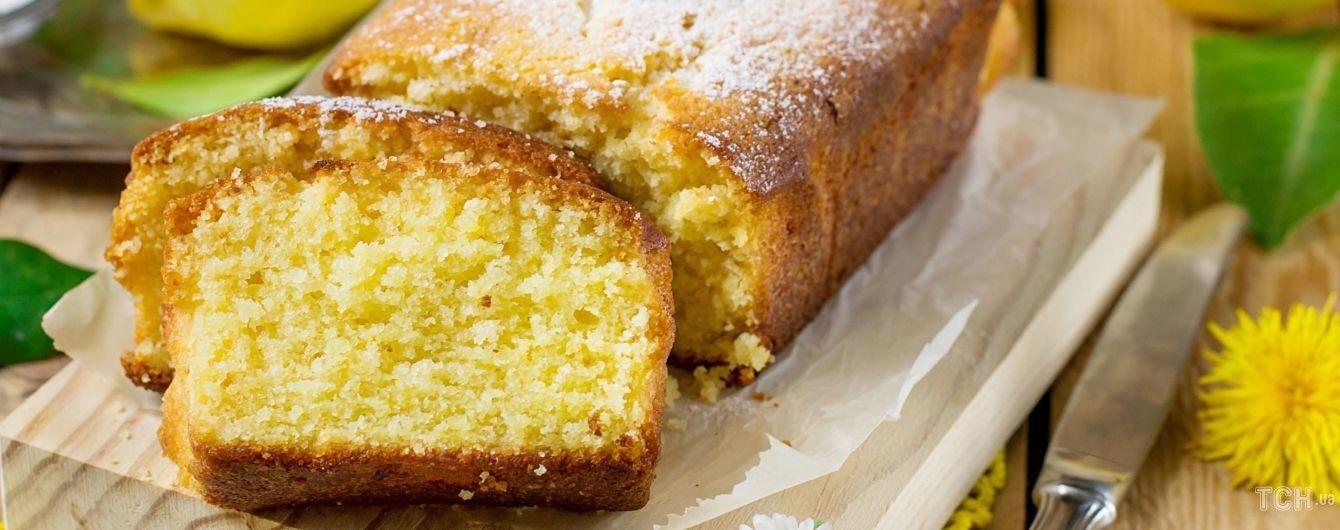 Бісквітний торт з лимоном: ароматний десерт до чаю
