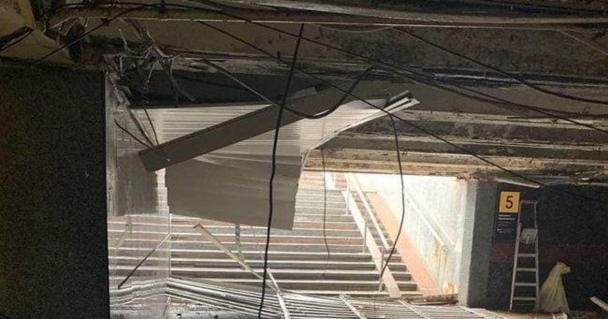 В Киеве в переходе под майданом Незалежности обвалился потолок