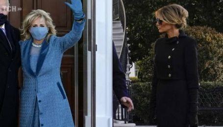 Скромно vs дорого: в Сети обсуждают стоимость нарядов Джилл Байден и Мелании Трамп в день инаугурации