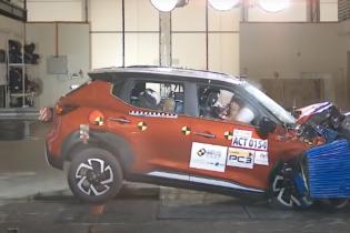 Самый дешевый кроссовер Nissan проверили на безопасность в краш-тесте: видео