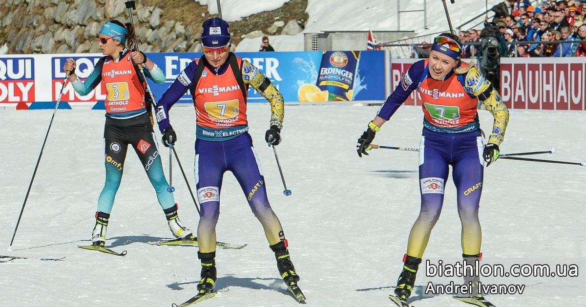 Украина финишировала в топ-10 женской эстафеты на Кубке мира по биатлону в Антхольце