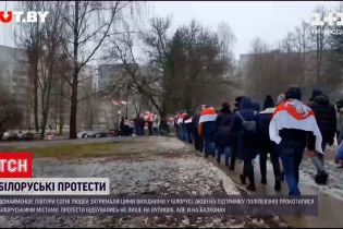 На вихідних у Білорусі затримали щонайменше півтори сотні людей