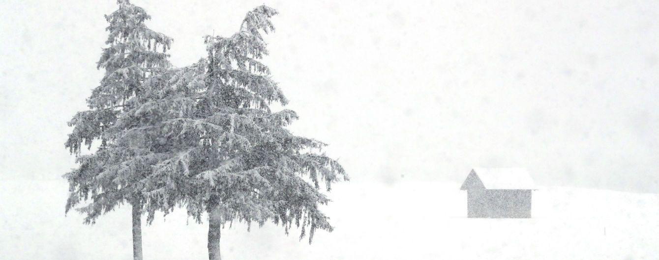 Во Львовской области ухудшилась погода: в регионе сильный снегопад и гололедица