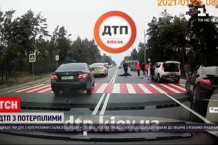 В Киеве произошли сразу три ДТП с пострадавшими