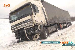 Жуткая авария: в Червонограде произошло мощное лобовое столкновение фуры и легковушки