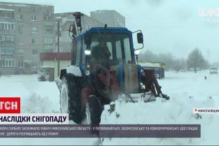 У Миколаївській області оголосили найвищий рівень небезпеки через потужні снігопади