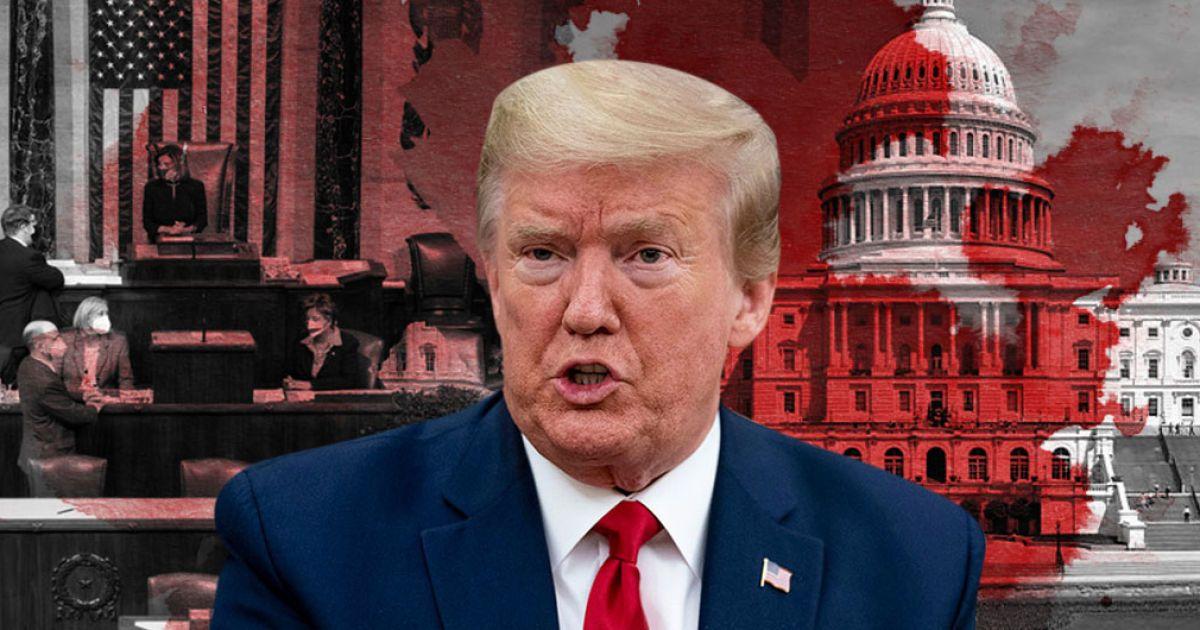 В США продолжаются дебаты относительно импичмента Трампа, он следит за этим по телевизору