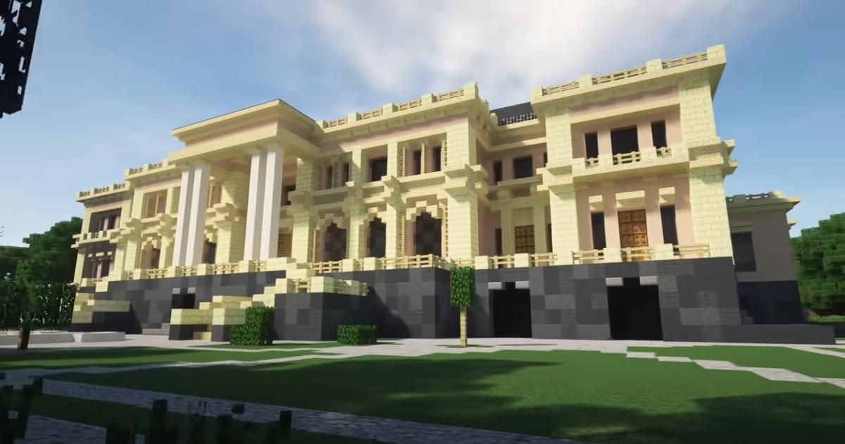В Minecraft в деталях воссоздали дворец Путина