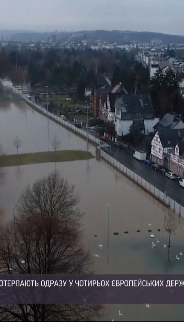 Від високої води потерпають у Німеччині, Люксембурзі, Франції та Італії