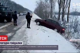 У Кіровоградській області снігопади чергуються зі зливами