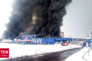 """Пожар """"Эпицентра"""" в Первомайске"""