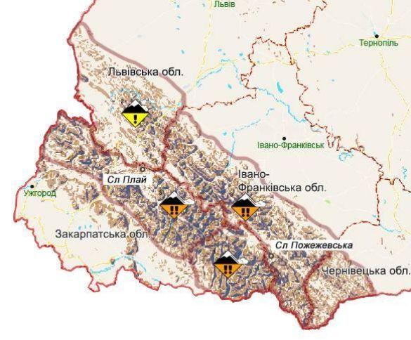 Сніголавинна ситуація в Українських Карпатах
