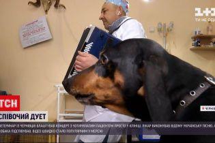 """Новости Украины: """"Несет Галя воду"""" зазвучала но-новому, песню исполнили ветеринар и пес"""
