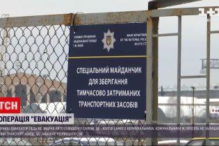 Новости Украины: в Киеве на штрафплощадку едва не отправили авто с водителем в салоне