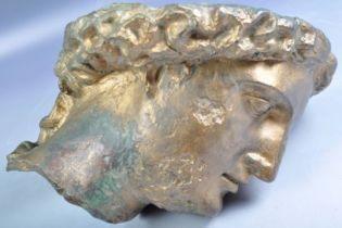 Британец в своем саду случайно нашел ведро с бронзовой головой