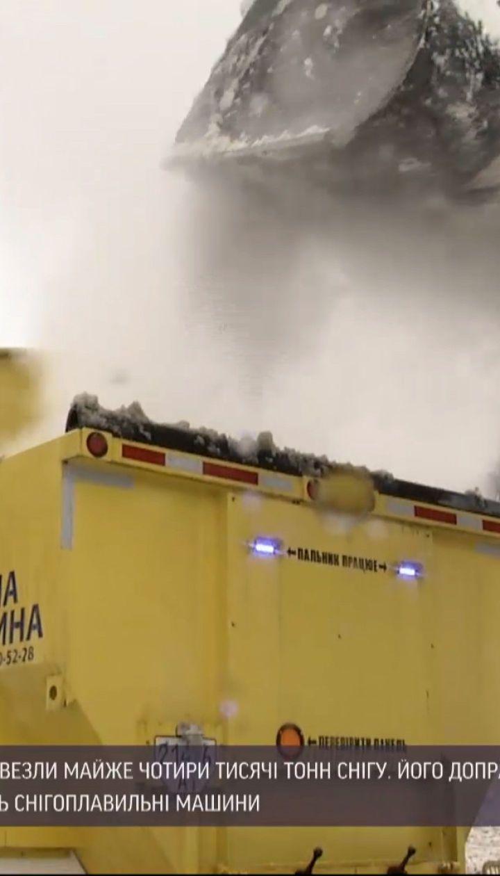 Новини України: у Києві випробували роботу снігоплавильних машин