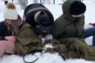 Пара из Харькова скрепила свою любовь цепями в Киеве