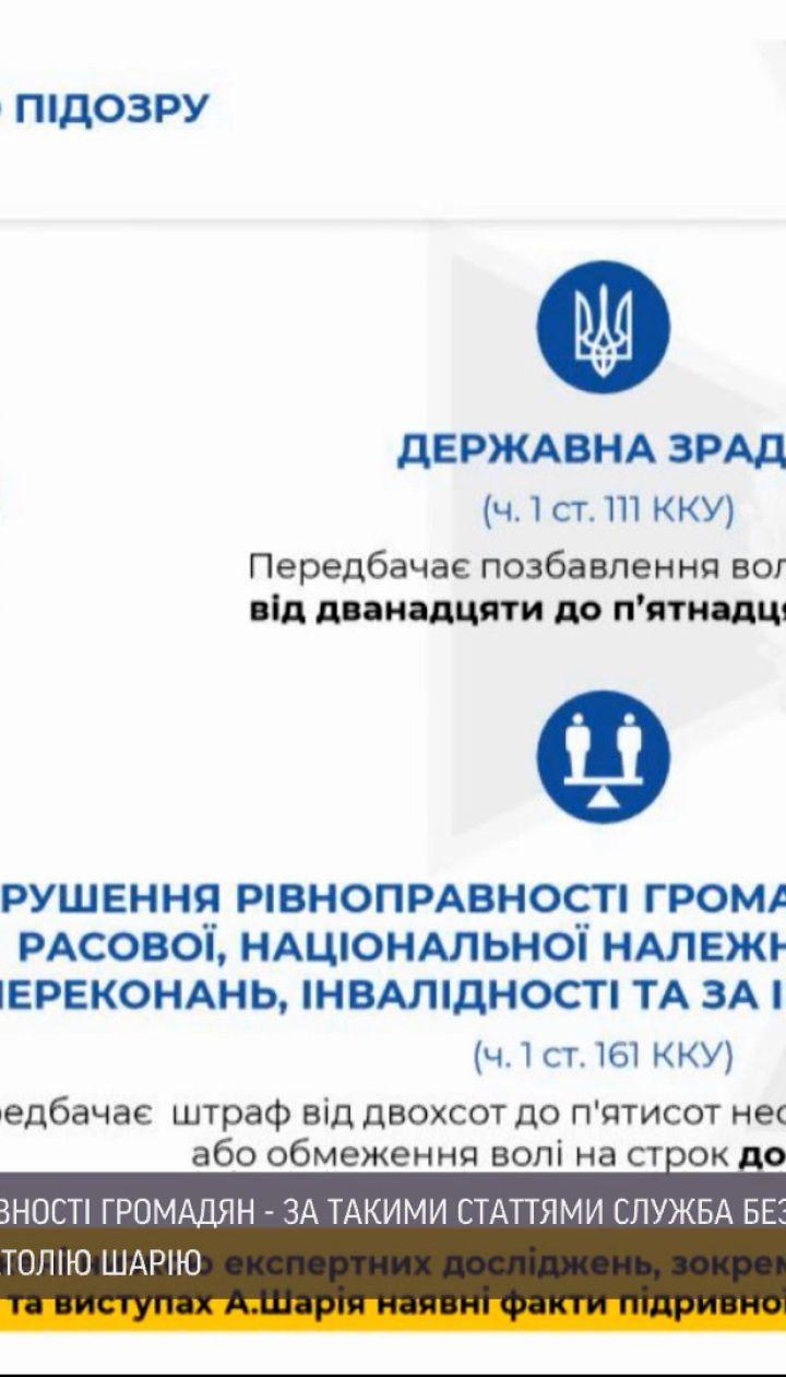 Новости Украины СБУ выразила Анатолию Шарию подозрение в государственной измене