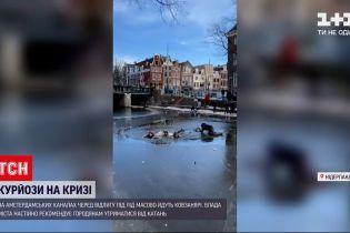 Новини світу: в Амстердамі люди провалилися під лід, коли каталися на ковзанах